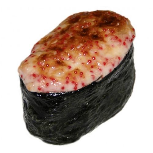 Суши Гункан запеченные с мидиями